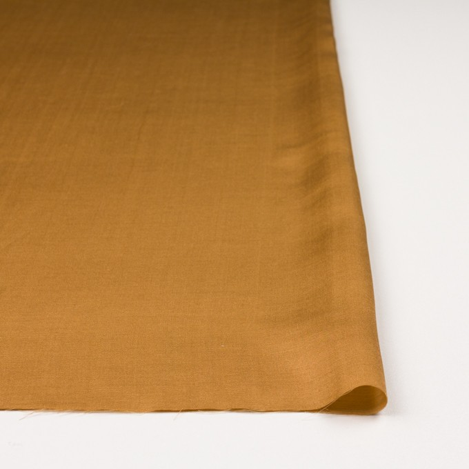 シルク&コットン混×無地(マリーゴールド)×サテン_イタリア製 イメージ3