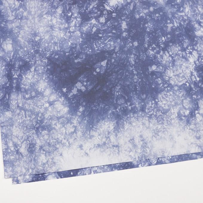 コットン&ポリエステル×マーブル(ウルトラマリン)×ブロード_全2色 イメージ2