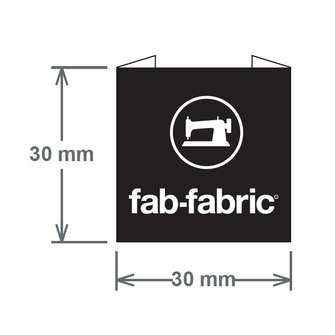 fab-fabricオリジナルタグ(ブラック)_3枚セット イメージ2