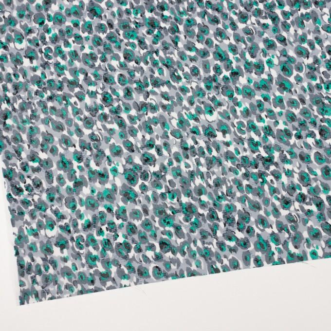 コットン×幾何学模様(スチールグレー)×ボイルカットジャガード_全2色 イメージ2