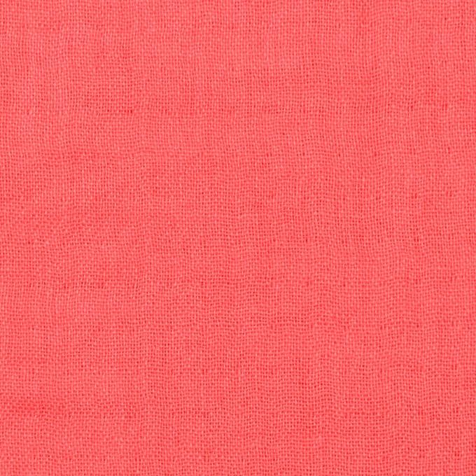 コットン×無地(コーラル)×トリプルガーゼ_全3色 イメージ1