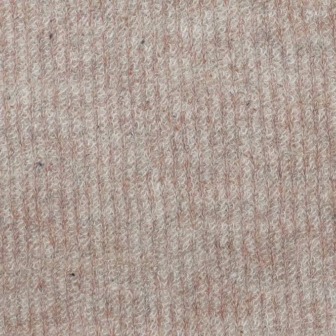 コットン&リネン×無地(ピンクベージュ)×リブ&天竺ニット_全3色 イメージ1