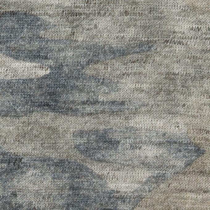 リネン×迷彩(グレイッシュベージュ&インクブルー)×天竺ニット イメージ1