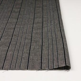 コットン&バンブー混×ストライプ(ブラック&キナリ)×ガーゼ サムネイル3