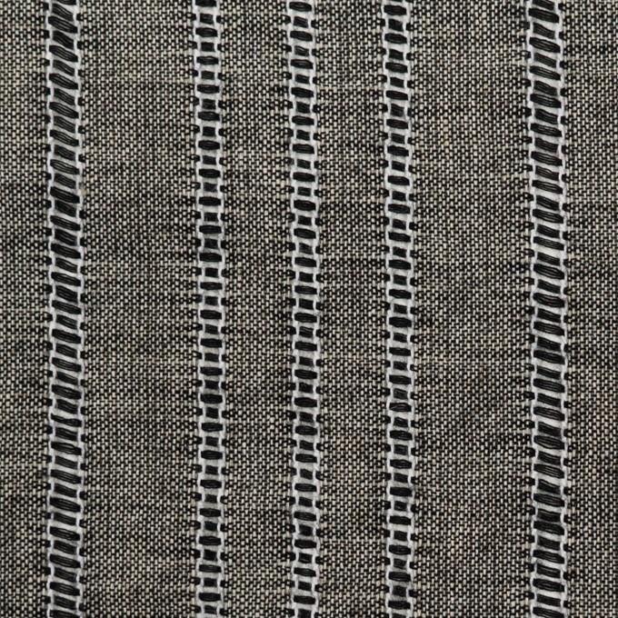 コットン&バンブー混×ストライプ(ブラック&キナリ)×ガーゼ イメージ1