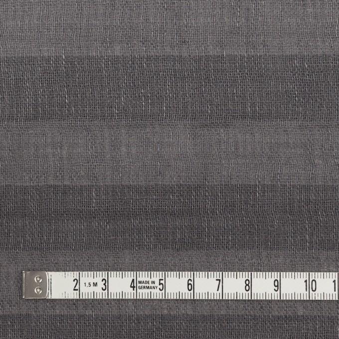 リネン&コットン×ボーダー(スチールグレー)×Wガーゼ イメージ4