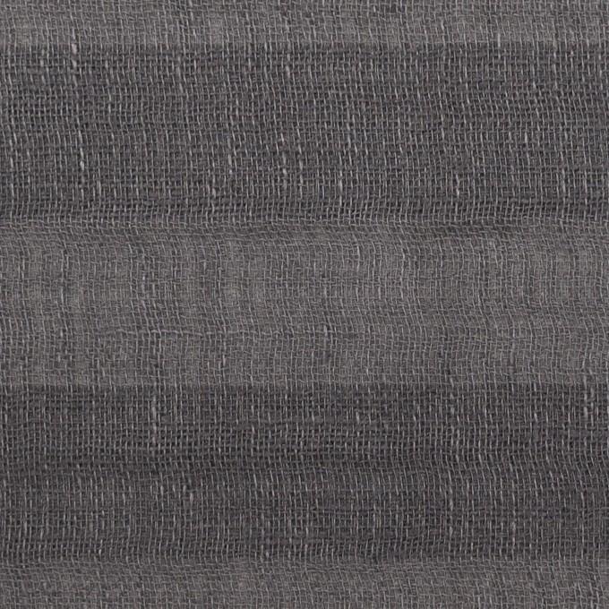 リネン&コットン×ボーダー(スチールグレー)×Wガーゼ イメージ1