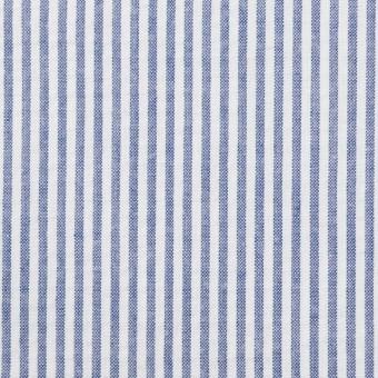 コットン×ストライプ(ブルー)×サッカー_全2色