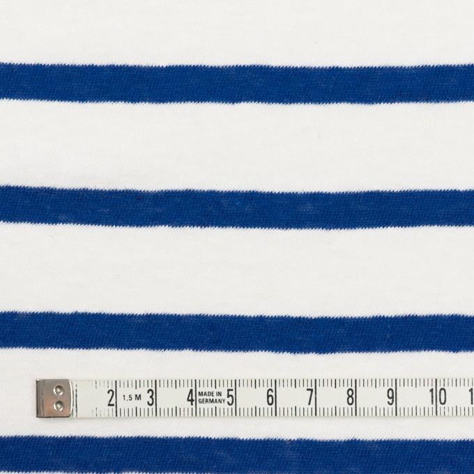 コットン×ボーダー(オフホワイト&マリンブルー)×天竺ニット イメージ4