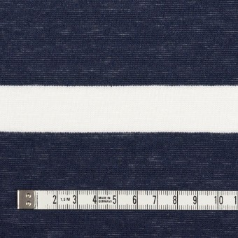 コットン&リネン×ボーダー(オフホワイト&ダークネイビー)×天竺ニット サムネイル4