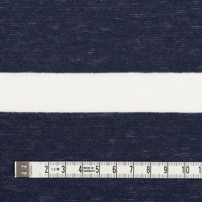 コットン&リネン×ボーダー(オフホワイト&ダークネイビー)×天竺ニット イメージ4
