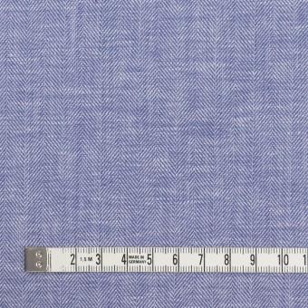 コットン×無地(サルビアブルー)×ヘリンボーン サムネイル4