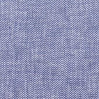 コットン×無地(サルビアブルー)×ヘリンボーン