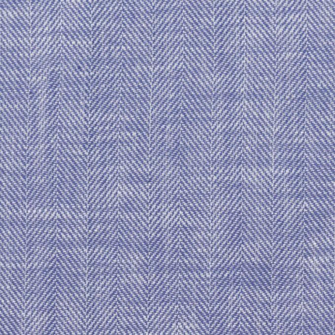 コットン×無地(サルビアブルー)×ヘリンボーン イメージ1
