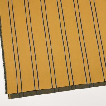 コットン&ポリウレタン×ストライプ(アンティークゴールド×マリンブルー)×サテンジャガード_全2色 サムネイル2