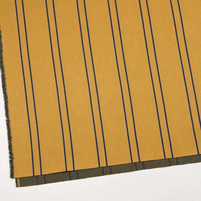 コットン&ポリウレタン×ストライプ(アンティークゴールド×マリンブルー)×サテンジャガード_全2色 イメージ2