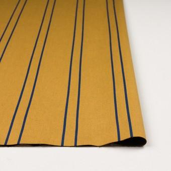 コットン&ポリウレタン×ストライプ(アンティークゴールド×マリンブルー)×サテンジャガード_全2色 サムネイル3
