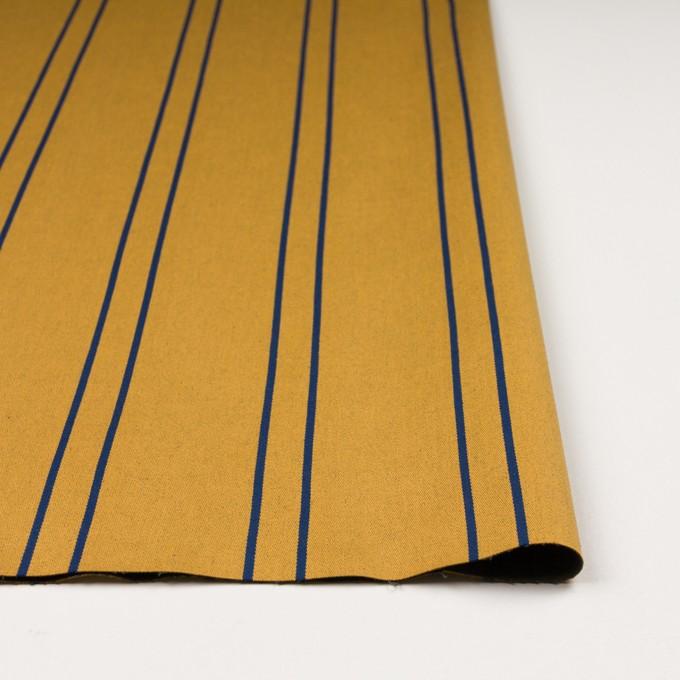 コットン&ポリウレタン×ストライプ(アンティークゴールド×マリンブルー)×サテンジャガード_全2色 イメージ3