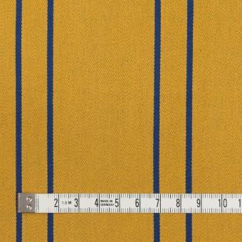 コットン&ポリウレタン×ストライプ(アンティークゴールド×マリンブルー)×サテンジャガード_全2色 サムネイル4