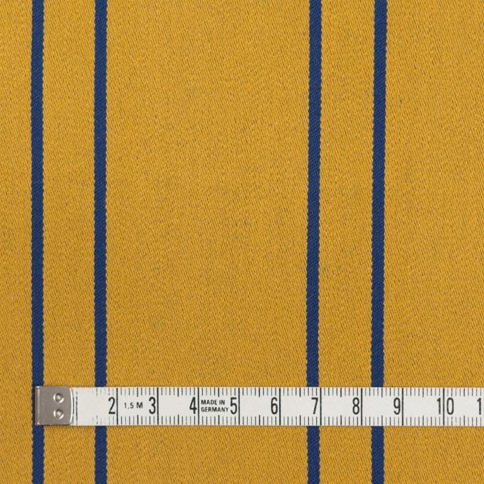 コットン&ポリウレタン×ストライプ(アンティークゴールド×マリンブルー)×サテンジャガード_全2色 イメージ4