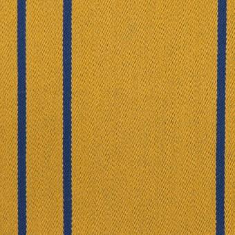 コットン&ポリウレタン×ストライプ(アンティークゴールド×マリンブルー)×サテンジャガード_全2色