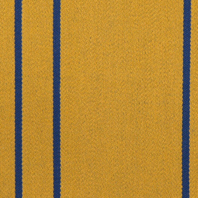 コットン&ポリウレタン×ストライプ(アンティークゴールド×マリンブルー)×サテンジャガード_全2色 イメージ1