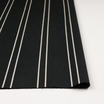コットン&ポリウレタン×ストライプ(ブラック&アイボリー)×サテンジャガード_全2色 サムネイル3