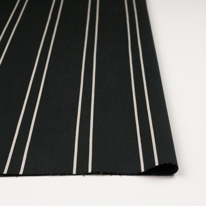 コットン&ポリウレタン×ストライプ(ブラック&アイボリー)×サテンジャガード_全2色 イメージ3