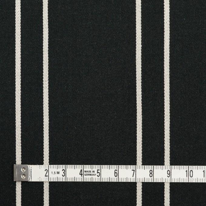 コットン&ポリウレタン×ストライプ(ブラック&アイボリー)×サテンジャガード_全2色 イメージ4