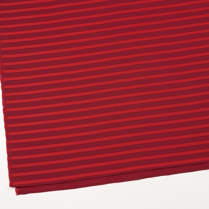 コットン×ボーダー(エンジ&レッド)×ボイルジャガード_全2色 イメージ2