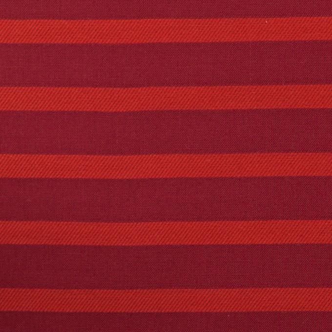 コットン×ボーダー(エンジ&レッド)×ボイルジャガード_全2色 イメージ1
