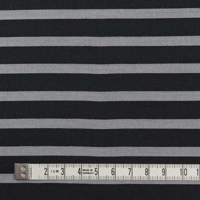 コットン×ボーダー(ブラック&シルバー)×ボイルジャガード_全2色 イメージ4