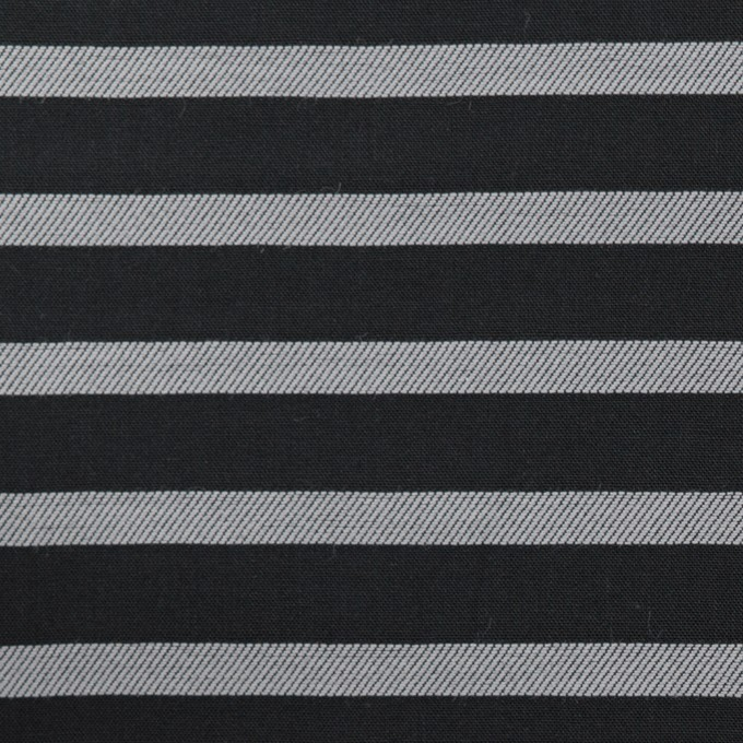 コットン×ボーダー(ブラック&シルバー)×ボイルジャガード_全2色 イメージ1
