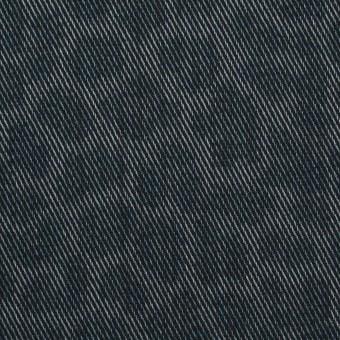 コットン&ポリエステル×レオパード(スチールグレー)×チノクロス