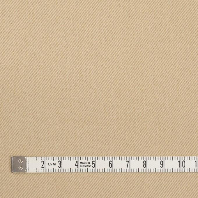 コットン&ポリウレタン×無地(カスタード)×サージストレッチ_イタリア製 イメージ4