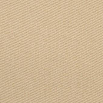 コットン&ポリウレタン×無地(カスタード)×サージストレッチ_イタリア製