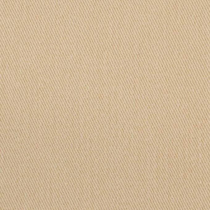 コットン&ポリウレタン×無地(カスタード)×サージストレッチ_イタリア製 イメージ1