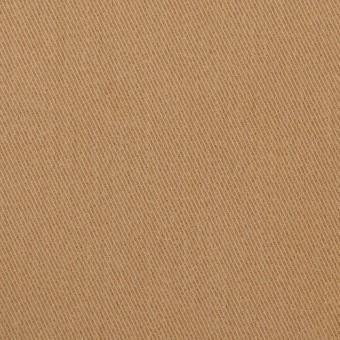コットン&ポリウレタン×無地(シナモン)×サージストレッチ_全2色_イタリア製