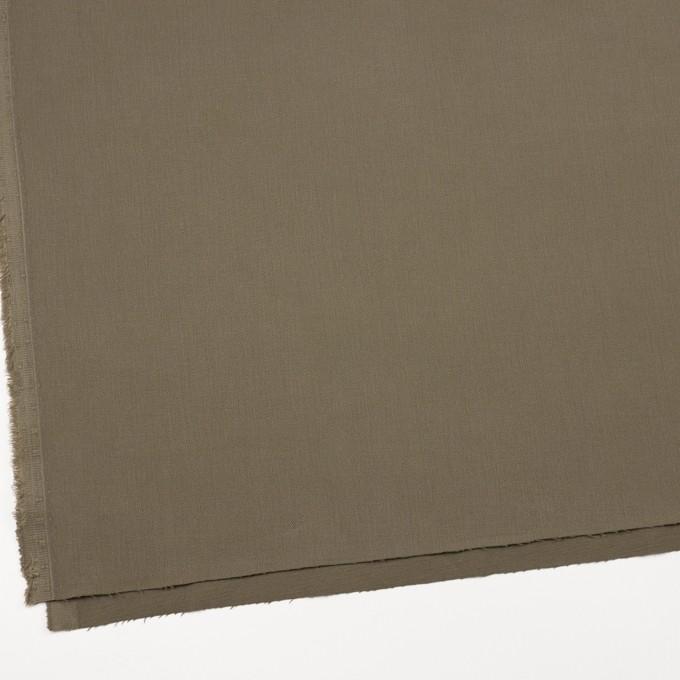 コットン&ポリウレタン×無地(カーキグリーン)×サージストレッチ_全2色_イタリア製 イメージ2
