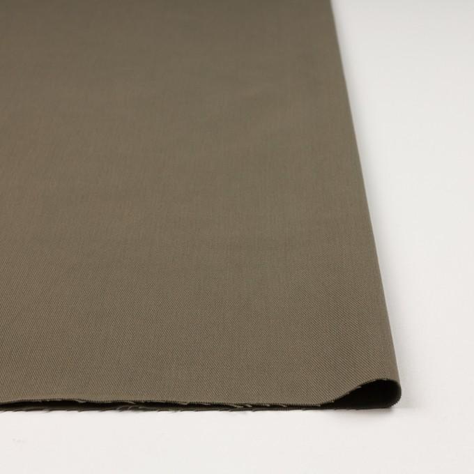 コットン&ポリウレタン×無地(カーキグリーン)×サージストレッチ_全2色_イタリア製 イメージ3