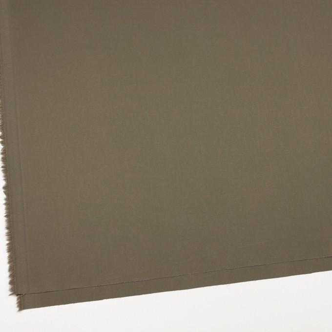 コットン&ポリウレタン×無地(カーキグリーン)×ギャバジンストレッチ_イタリア製 イメージ2