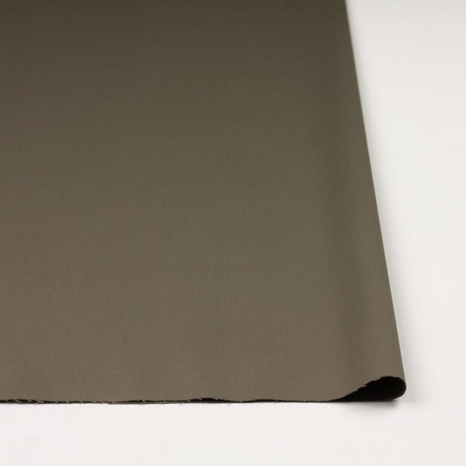 コットン&ポリウレタン×無地(カーキグリーン)×ギャバジンストレッチ_イタリア製 イメージ3