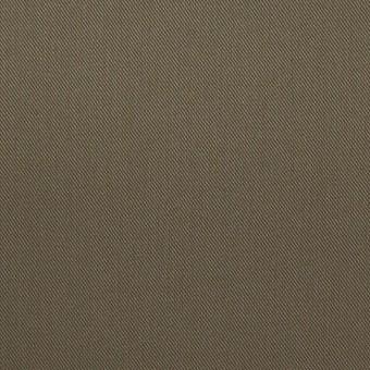 コットン&ポリウレタン×無地(カーキグリーン)×ギャバジンストレッチ_イタリア製