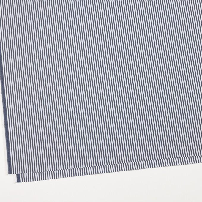 コットン×ストライプ(アッシュネイビー)×高密ブロード イメージ2