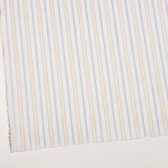 コットン×ストライプ(ペールブルー&ブラウン)×ブロードジャガード サムネイル2