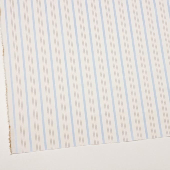 コットン×ストライプ(ペールブルー&ブラウン)×ブロードジャガード イメージ2