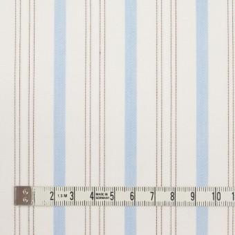 コットン×ストライプ(ペールブルー&ブラウン)×ブロードジャガード サムネイル4
