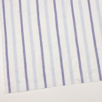 コットン×ストライプ(ペールブルー&ネイビー)×ボイルワッシャー サムネイル2