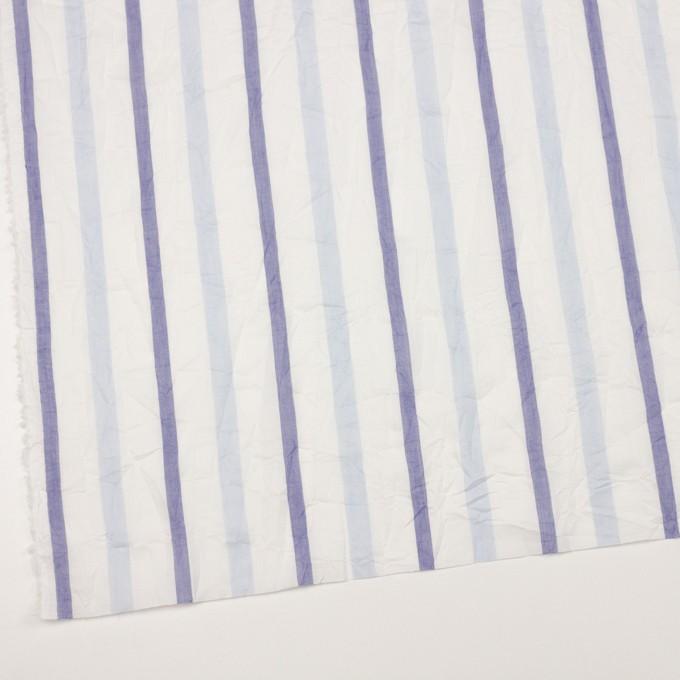 コットン×ストライプ(ペールブルー&ネイビー)×ボイルワッシャー イメージ2