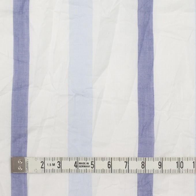 コットン×ストライプ(ペールブルー&ネイビー)×ボイルワッシャー イメージ4